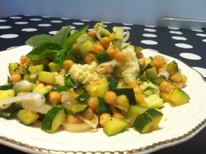 Insalata tiepida di miglio e zucchine