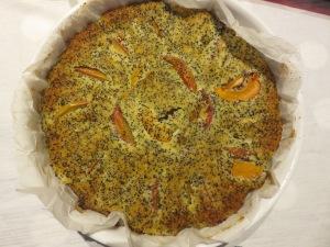 Clafoutis albicocche e pesche