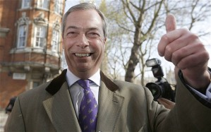 Il leader dell'UKIP Nigel Farage. Foto Reuters